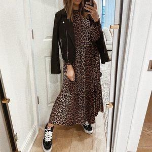H&M Leopard Creped Dress